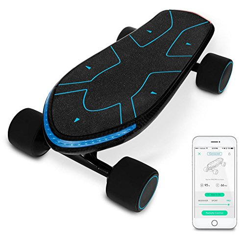 Swagtron Swagboard Spectra Advanced Electric Cruiser Skateboard – 12 Miles Per Charge – 15 MPH – Mobile App