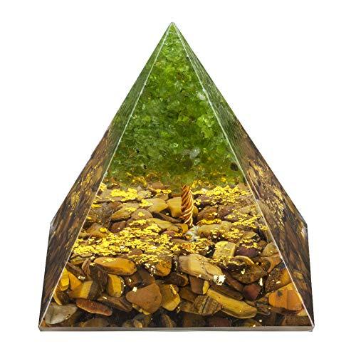 Rockcloud Tree of Life Orgone Pyramid Tiger's Eye Crystal...