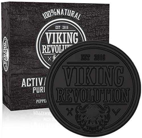 Viking Revolution Activated Charcoal Soap for Men...