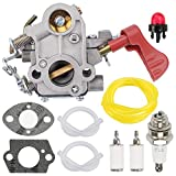 Fuel Li 545008042 545189502 Carburetor for Poulan Pro PP338PT PP033 PP133 PP333 Gas Trimmer Zama C1M-W44 33cc Carb with Tune-Up Kit