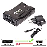 Scart Péritel vers HDMI Adaptateur, AMANKA Convertisseur Péritel vers HDMI...