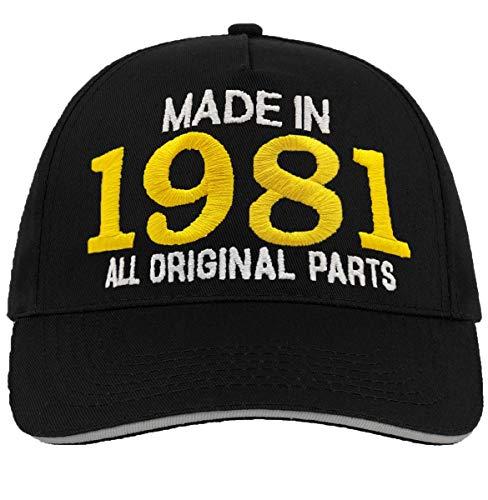 Bombo Hecho en 1981 todas las piezas originales^ 40 años de cumpleaños sombrero negro