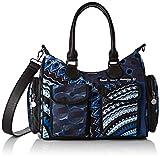 Desigual Bag Rep Blue Frien, Sac à l'épaule Femme, Bleu Indigo, 15.5x25.5x32...
