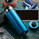 FENGE Heated Travel Mug Retro Style -12V/24V Stainless Steel Car Truck Travel Electric Kettle Fast Boiling Water Heating Pot Heated Water Cup, Control of The Four-in-one Convenience Function.