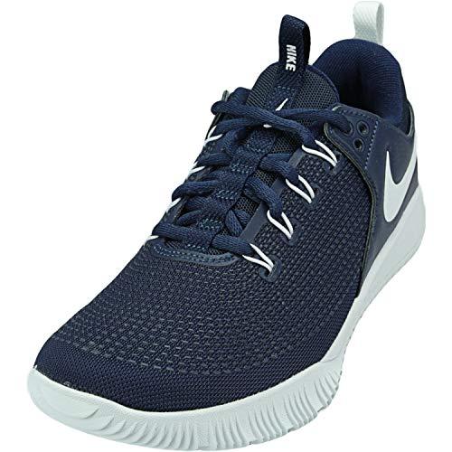 Nike Womens Zoom Hyperace 2 Volleyball Shoe, Midnight Navy/White-midnight Navy, 10