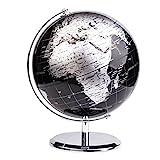 Exerz 20cm Globe Métallique Noir - en Anglais -...