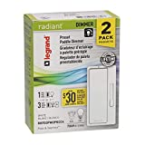 Pass & Seymour RH703PW2PKCC4 Dimmer Switch, White