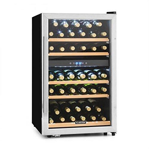 KLARSTEIN Vinamour 40D - Cantinetta, Frigofero per Vino, Volume 135L, 47dB, Ideale per 41 Bottiglie,...