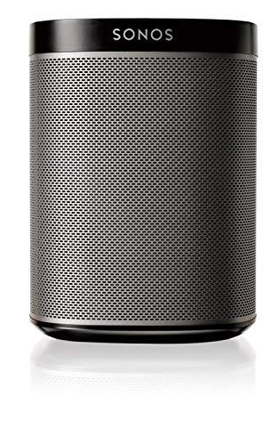 Sonos Play:1 Smart Speaker (Kompakter und kraftvoller WLAN Lautsprecher für unbegrenztes Musikstreaming – Feuchtigkeitsbeständiger Multiroom Lautsprecher) schwarz