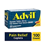 Advil Coated Caplets Pain Reliever and Fever Reducer, Ibuprofen 200mg,...