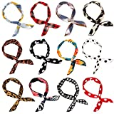 Wodasi 12Pcs Twist Bow Wired Headbands, Fil flexible Headbands Accessoires pour...