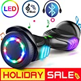 TOMOLOO Hoverboard with Bluetooth Speaker and LED Lights Self-Balancing Scooter UL2272 Certified...
