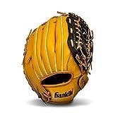 Franklin Sports Baseball and Softball Glove - Field Master - Baseball and Softball Mitt , 12' - Trapeze Web, Tan