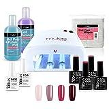 Kit de inicio de esmalte de gel de uñas, 4 colores MYGEL, Top & Base Coat,...