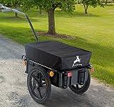 MTN-G New Bicycle Bike Cargo Trailer Steel Carrier Storage Cart Wheel Runner for Shopping
