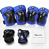 GROTTICO Toddler-Kids Knee-Elbow-Pads Wrist-Guards for Skate-Skateboard-Bike-Scooter-BMX - 3-8 Years Old Protective Gear Set