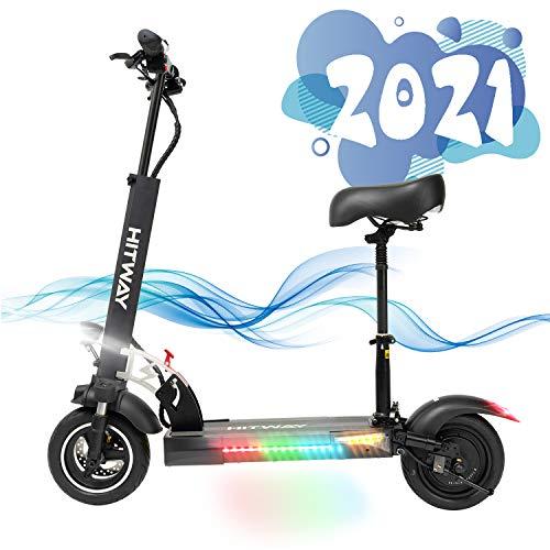 SOUTHERN WOLF Trottinette électrique, Trottinette électrique Adultes avec siège Amovible Pneu 10 Pouces 800W Scooter électrique | Scooter électrique Pliable avec écran (Black) (Black)