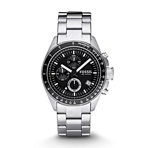 Fossil Chronograph Herren Uhr mit Edelstahl Armband CH2600IE