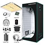 """MARS HYDRO TS 1000W Led Grow Light Complete Kit 3x3ft Full Spectrum Grow Tent Set, Indoor Tent Complete Kit with 4""""Filter Ventilation System for Indoor Growing (27'x27'x63' Tent 1680D Canvas)"""