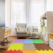 Đầy màu sắc bộ 12 tấm mat tatami eva 50x50x1cm 10mm