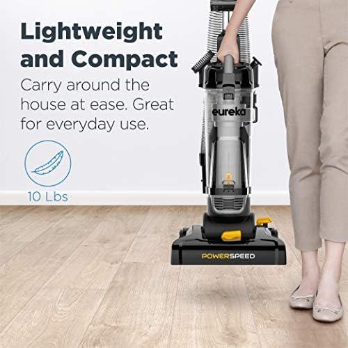 eureka PowerSpeed Bagless Upright Vacuum Cleaner, Pet Turbo, Black 17