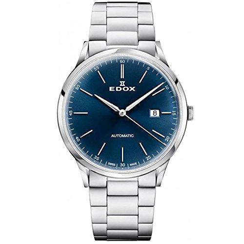 Edox Les Vauberts Herren-Armbanduhr 42mm Armband Edelstahl + Gehäuse Saphirglas Automatik 80106 3M BUIN