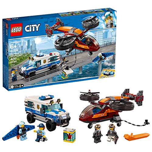 LEGO City Sky Police Diamond Heist 60209 Building Kit (400 Pieces)