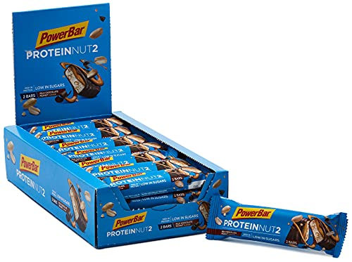 PowerBar Protein Nut2 Milk Chocolate Peanut 18x(2x22,5g) - Barras de Proteína con Bajo Contenido de Azúcar