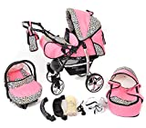 Sportive X2, 3-in-1 Travel System incl. Baby Pram with Swivel Wheels, Car Seat,...