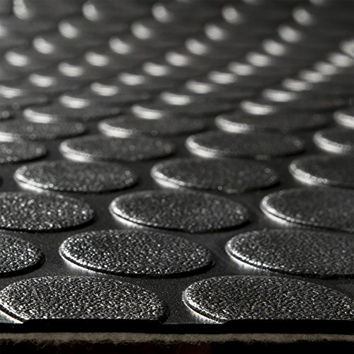 RecPro RV Coin Flooring | Black | 8' 6' Wide | Nickel Pattern...