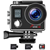 Campark Action Camera 4K WiFi Ultra HD Sports Cam Underwater Waterproof 30M 170Wide-Angle Lens with Remote Control 2 Recharge Batteries and Mounting Accessories Kit
