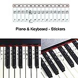ROLLLIN Autocollants pour clavier piano à queue de piano numérique piano...