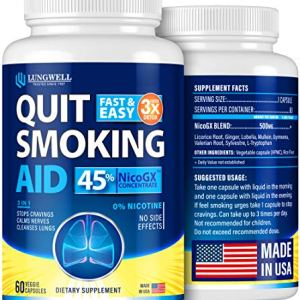 Quit Smoking Aid - Lung Cleanse & Detox Pills - Made in USA - Helps to Clear Lungs & Stop Smoking - Infused with Mullein & L-Tryptophan for Lung Detox & Stress Relief - COPD & Asthma Relief 6 - My Weight Loss Today