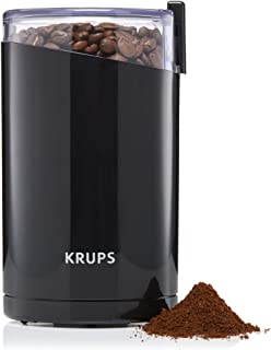 KRUPS F203 Electric Spice and Coffee Grinder with Stainless Steel Blades, 3 oz / 85 g, Black