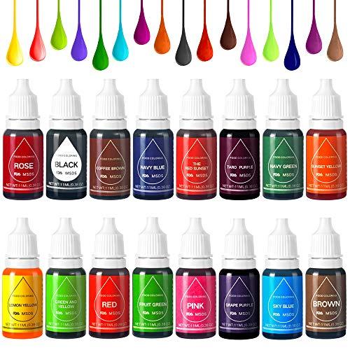 Colorante Alimentario Liquido Food Dye Coloring Set 16x11ml,