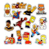 Pegatinas de dibujos animados lindos impermeables para maleta, monopatín, guitarra, cuaderno, 50 unidades
