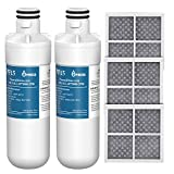 MARRIOTTO Pureza LT1000P Refrigerator Water Filter and Air Filter, Compatible with LG LT1000P, LT1000PC, MDJ64844601, ADQ747935, Kenmore 46-9980, and LG LT120F, ADQ73214404 Air filter Combo