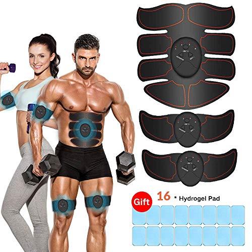 iThrough Estimulador Muscular Abdominales, EMS Electroestimulador...