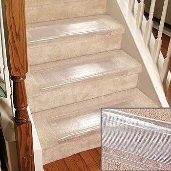 Clear Stair Treads Carpet Protectors Set Of 2 Staircase Step   Stair Step Carpet Runners   Hallway Carpet   Walmart   Flooring   Non Slip Stair   Wall Carpet