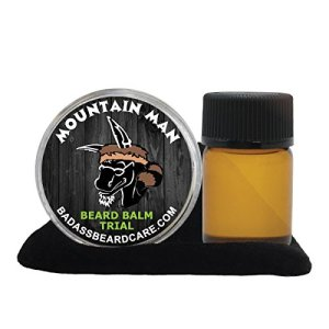 Badass Beard Care Beard Oil and Balm Trial Pack For Men - Mountain Man Scent - Natural Ingredients,...