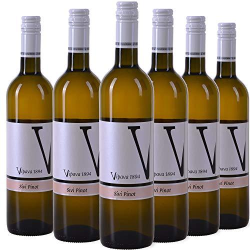 Vipava 1894 vino bianco Sivi pinot (Pinot Grigio) 2019, vino bianco - secco, raccolto a mano (6 x 0.75 l)