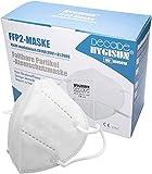 DECADE Mund und Nasenschutz [20x] FFP2 Maske FFP2 by Hygisun, Masken Mundschutz FFP2 Maske CE zertifiziert durch Stelle 2797, Atemschutzmaske ohne Ventil FFP2 Masken, Mundschutz Maske kn95