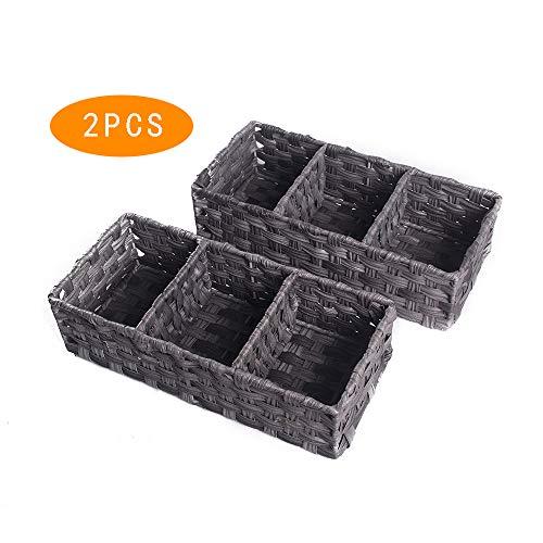 HOSROOME Toilet Paper Basket Storage Basket for Toilet Tank Top...