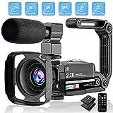 Caméra Vidéo 2.7K Caméscope UHD 36MP Caméra de Vlog pour Youtube IR Night...