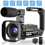 """Tech :  Caméra vidéo 2.7K Caméscope Ultra HD 36MP Vlogging Camera pour YouTube IR Night Vision 3.0 """"LCD Touch Screen 16X Zoom Camera Recorder with Microphone Handheld Stabilizer Remote Control  infos , tests"""