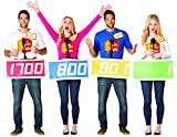 The Price is Right Contestant 4 Pack TPIR Game Show Halloween Group Couples Costume, Adult One Size