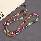 Collar de perlas universal bohemio para teléfono móvil, correa para el cuello, cadena de perlas de...