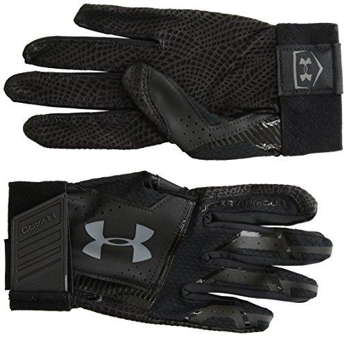 Under Armour Men's yd Baseball Gloves, Black (003)/Graphite, Medium