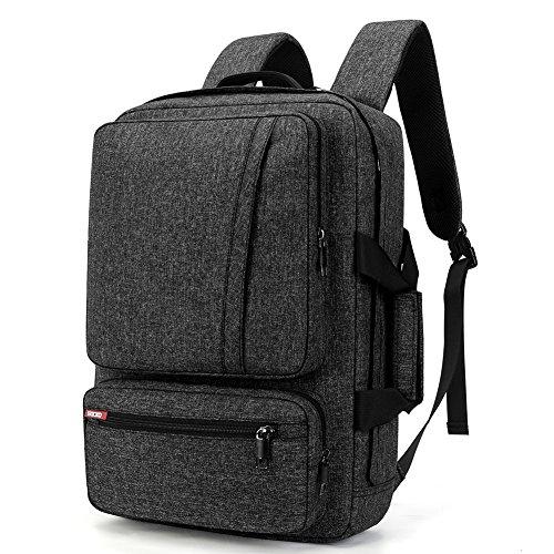 SOCKO 17 Inch Laptop Backpack with Side Handle and Shoulder Strap,Travel Bag Hiking Knapsack Rucksack College Student Shoulder Back Pack for Up to 17 Inches Laptop Notebook Computer, Grey-Black