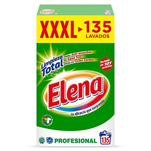 Elena Detergente para lavadora, adecuado para ropa blanca y de color, formato polvo - 135 dosis